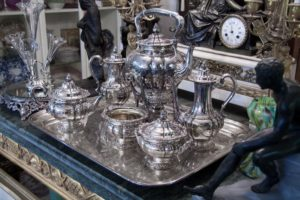 Antique silver Tea set, silver for cash, twerys