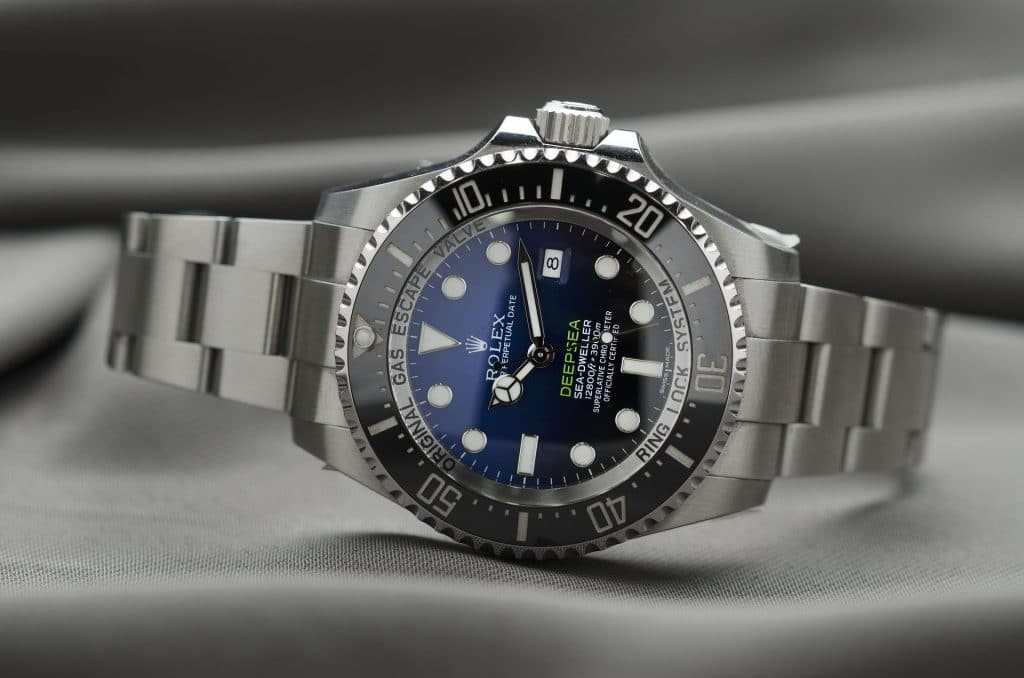 Rolex Deepsea Sea-Dweller sitting on cloth